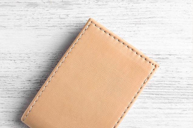 ベージュ色の財布